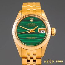 Rolex President  Datejust 18K Gold Malachite Dial