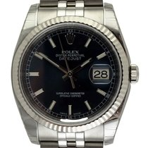 Rolex : Datejust 36mm :  116234 :  Stainless Steel : blue dial...