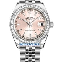 Rolex Datejust Staal 31mm Roze