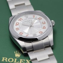 Rolex Air King Acero 34mm Plata Árabes