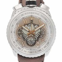 Bomberg Chronograph 47mm Automatic new Bolt-68 Silver