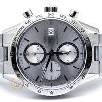 TAG Heuer 41mm Automatic pre-owned Carrera Calibre 16 Silver