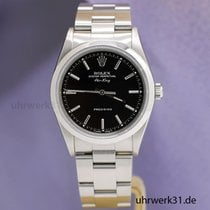 Rolex Air King Precision Acero 34mm Negro Sin cifras