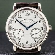 A. Lange & Söhne White gold Manual winding Silver Arabic numerals 39mm pre-owned 1815