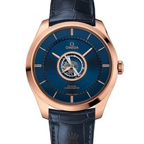 Omega De Ville Central Tourbillon Roségold 44mm Blau