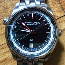 Hamilton Jazzmaster GMT Auto Staal 42mm Zwart