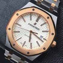 Audemars Piguet Royal Oak Selfwinding tweedehands 41mm Zilver Datum Goud/Staal