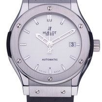Hublot Steel Automatic Silver No numerals 45mm pre-owned Classic Fusion 45, 42, 38, 33 mm