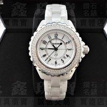 香奈儿 陶瓷 33mm 石英 CHANEL 香奈兒手錶 J12 H0967 原廠鑽石外框 公司貨 33毫米 n0432-01 二手 臺灣, 新竹市