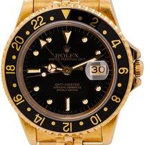 Rolex GMT-Master Жёлтое золото 40mm Чёрный