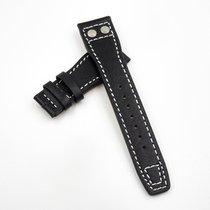 萬國 22mm IWC Pilot Style Black Calf Leather Replacement w/...