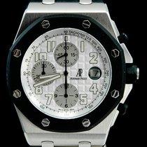 Audemars Piguet Royal Oak Offshore Chronograph Stal 42mm Biały Arabskie
