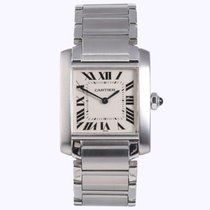 Cartier Tank Française Steel 25mm Roman numerals United States of America, New York, NYC