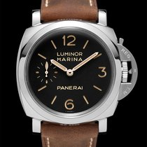Panerai Aço Corda manual Preto Árabes 47mm novo Luminor Marina 1950 3 Days