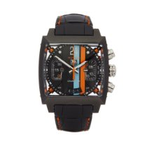TAG Heuer Monaco Calibre 36 Steel 40.5mm Black United Kingdom, Bishop's Stortford