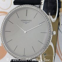 Longines pre-owned Quartz 38.5mm Silver Sapphire crystal 3 ATM