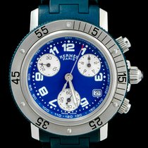 Hermès gebraucht Quarz 33mm Blau Saphirglas