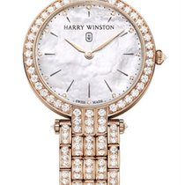 Harry Winston new Quartz 36mm Rose gold Sapphire crystal