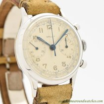 Gallet Chronograph 34mm Manual winding 1950 pre-owned Silver