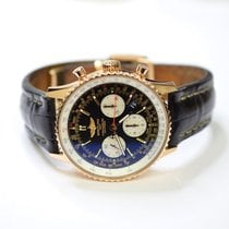 Breitling Navitimer 01 43mm 18K Rose Gold Watch on Leather...