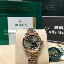 Rolex Cally - New 2017 28mm Datejust 279171G Green 綠鑽石