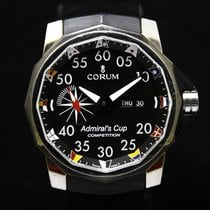 Corum 48mm Automatisch tweedehands Admiral's Cup Competition 48 Zwart