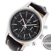 Breitling Transocean Chronograph GMT Steel 43mm Black No numerals United States of America, Pennsylvania, Willow Grove