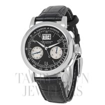 A. Lange & Söhne Datograph pre-owned 39mm Black Chronograph Flyback Date Tachymeter Fold clasp
