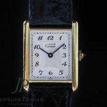Cartier Tank Vermeil Silber 23mm Weiß Arabisch Deutschland, München