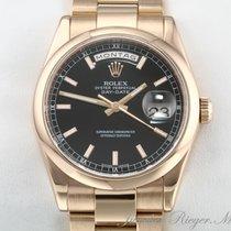 Rolex Day-Date 36 Pозовое золото 36mm Чёрный