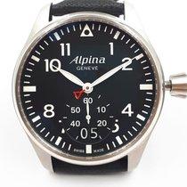 Alpina Startimer Pilot Stahl 44mm Schwarz Arabisch