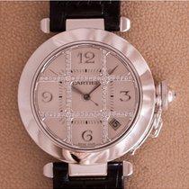 Cartier Pasha Whitegold Grille Diamonds 2373