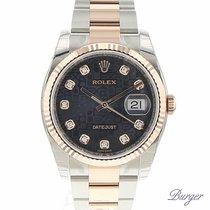 Rolex Datejust 36 Rolesor Everose Fluted / Oyster / Diamond...