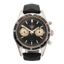 Heuer Chronograph 39mm Manual winding 1968 pre-owned Black
