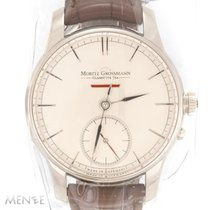 Moritz Grossmann Ouro branco 41mm Corda manual MG-00471 novo