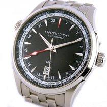 Hamilton Jazzmaster GMT Auto 42mm Black Dial Steel Bracelet