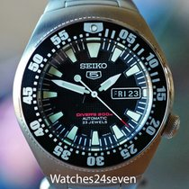Seiko 5 Steel 40mm Black United States of America, Missouri, Chesterfield