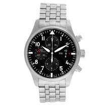 IWC Pilot Chronograph pre-owned 43mm Black Chronograph Date Weekday Steel