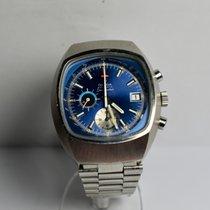 Omega Seamaster подержанные 42mm Синий Хронограф Дата Сталь
