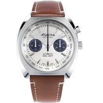 Alpina Steel 42mm Chronograph Startimer Pilot Heritage new