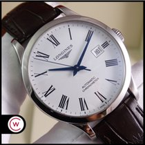 Longines Record pre-owned 40mm White Date Steel