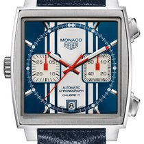 TAG Heuer Monaco Calibre 11 new Automatic Chronograph Watch with original box CAW211D-FC6300