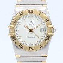 Omega Constellation Quartz Gold/Steel 25mm White No numerals