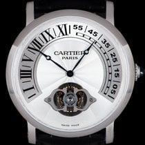 Cartier Platin Handaufzug Silber Römisch 42mm gebraucht Rotonde de Cartier