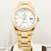 Rolex Day-Date 118208 Yellow Gold 36mm President Box &...