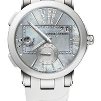Ulysse Nardin Executive Dual Time Lady 243-10-3/391 Ulysse Nardin Esecutivo Donna Madreperla Bianco nuevo