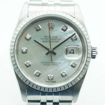 Rolex Datejust 36 Stainless Steel Mother of Pearl Diamonds Dial