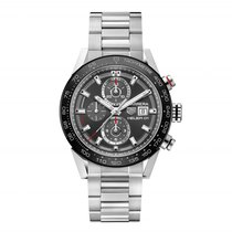 TAG Heuer Carrera 45mm Chrono Date Automatic Mens Watch...