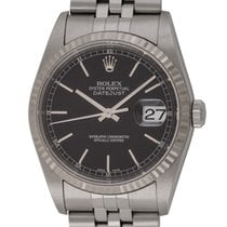Rolex : Datejust 36mm :  16234 :  Stainless Steel : black dial...