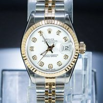 Rolex Datejust Gold/Steel 26mm White No numerals